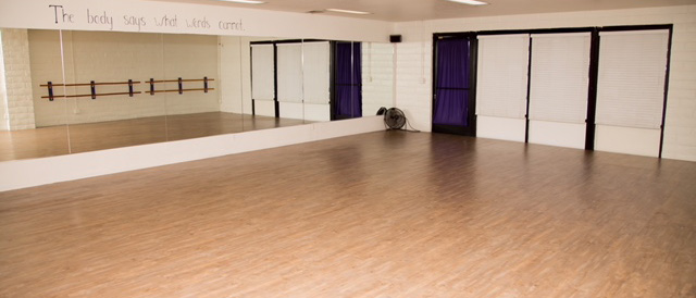 Picture of one of the dance rooms at Kane Dance Academy