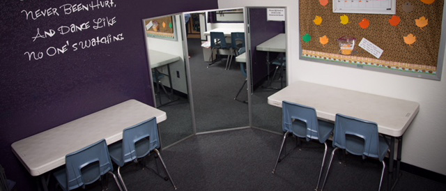 Picture of the homework room at Kane Dance Academy