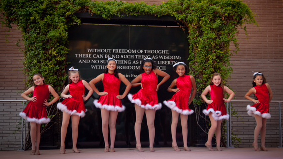 Kane Performance Team dancers perform at the Festival of Lights, 2016.